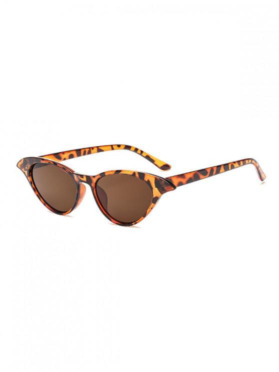 shops Irregular Anti UV Egg Shape Sunglasses - LEOPARD REGULAR