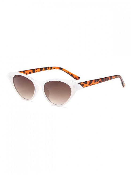 latest Irregular Anti UV Egg Shape Sunglasses - WHITE REGULAR