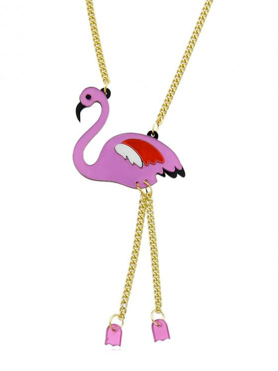 online Flamingo Chain Necklace - ROSE RED