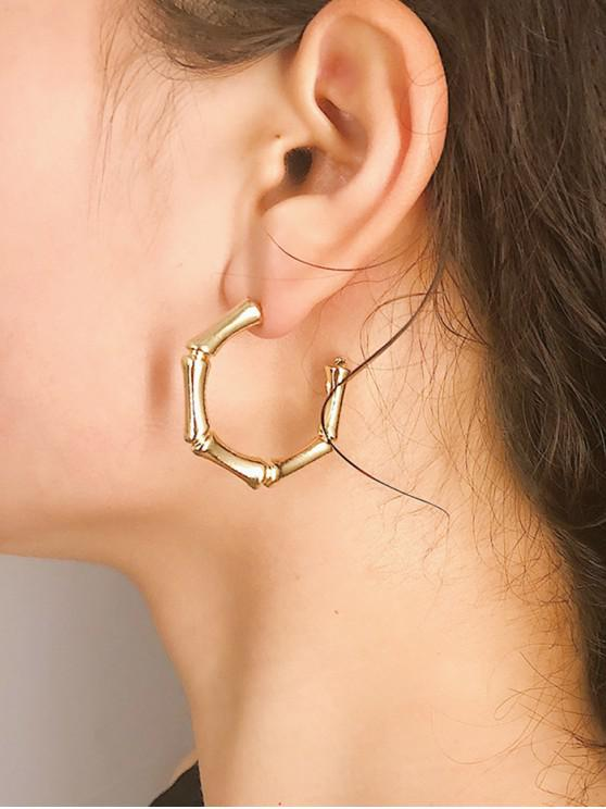 outfits Character Alloy Bamboo Festival Earrings - GOLD