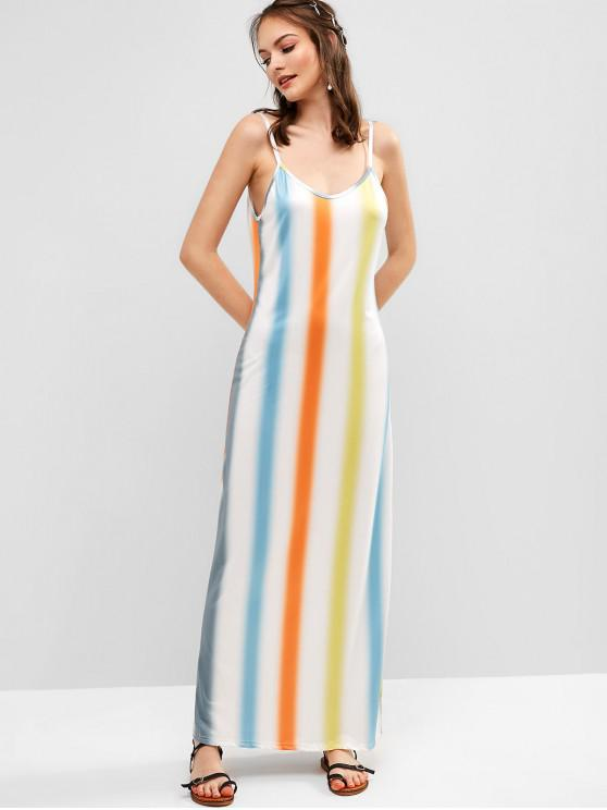 fancy Ombre Stripes Cami Maxi Dress - MULTI S