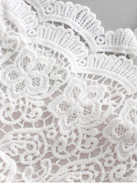 shop ZAFUL Floral Print Lace Panel Cami Shorts Set - PINK M Mobile