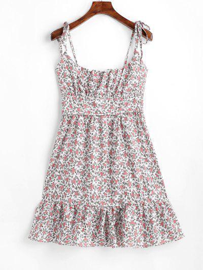 1e702725f0a Tied Straps Floral A Line Mini Dress - Multi M ...