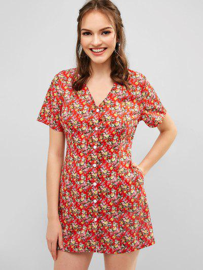 8fcd484d1dc Tiny Floral Dress - Ruby Red S ...