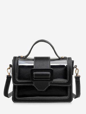b8723f3e7e720 مجموعة حقيبة مربع تصميم مشبك شفاف الصيف - أسود