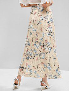 e75c84e3b3 33% OFF] [HOT] 2019 Floral Maxi Wrap Skirt In MULTI-A | ZAFUL United ...