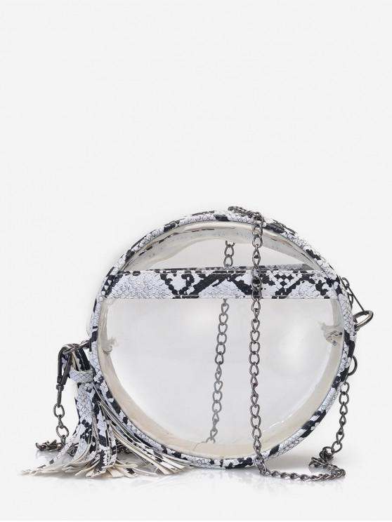 buy Transparent Snakeskin Crossbody Bag - WHITE