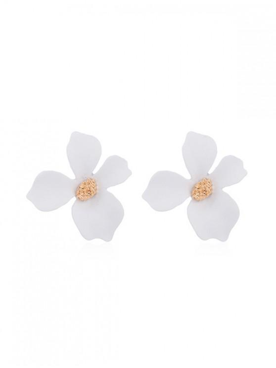 outfit Flower Spray Lacquer Stud Earrings - WHITE