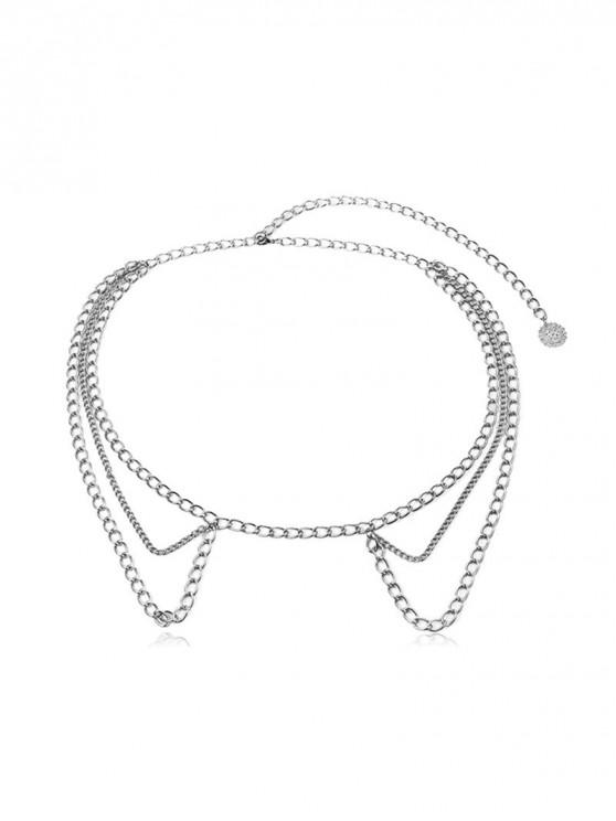 outfits Tassel Design Alloy Waist Chain - SILVER