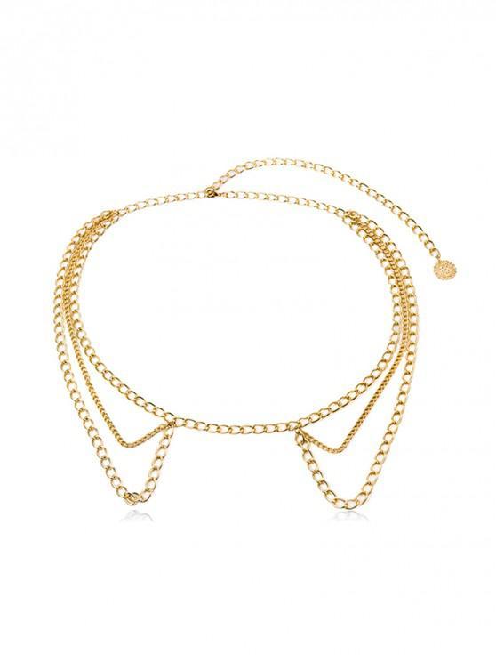 sale Tassel Design Alloy Waist Chain - GOLD
