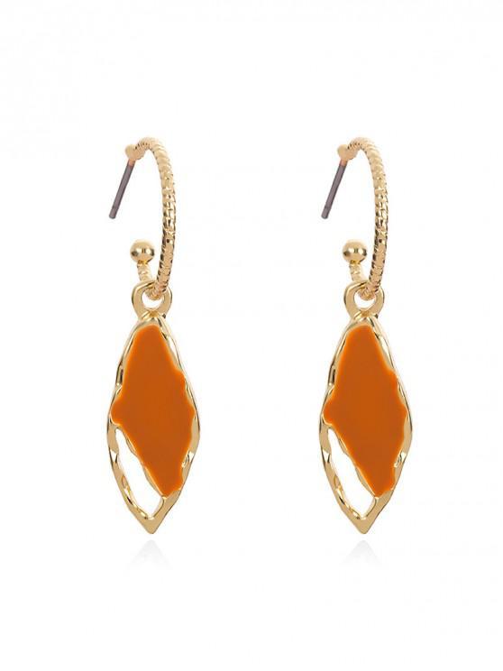 ladies Chic Water Drop Decoration Drop Earrings - ORANGE