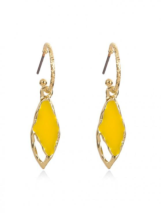 best Chic Water Drop Decoration Drop Earrings - YELLOW