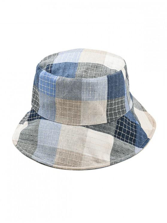 outfit Plaid Bucket Hat - LIGHT BLUE