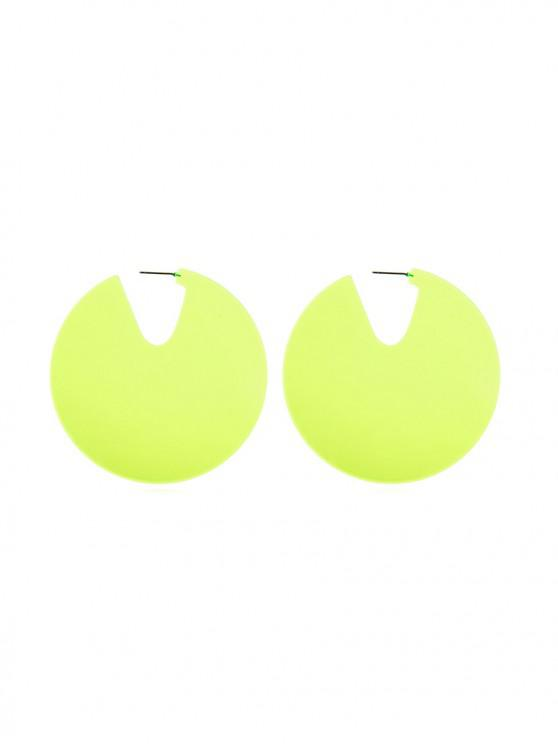 outfits Simple Semicircular Stud Earrings - CHARTREUSE