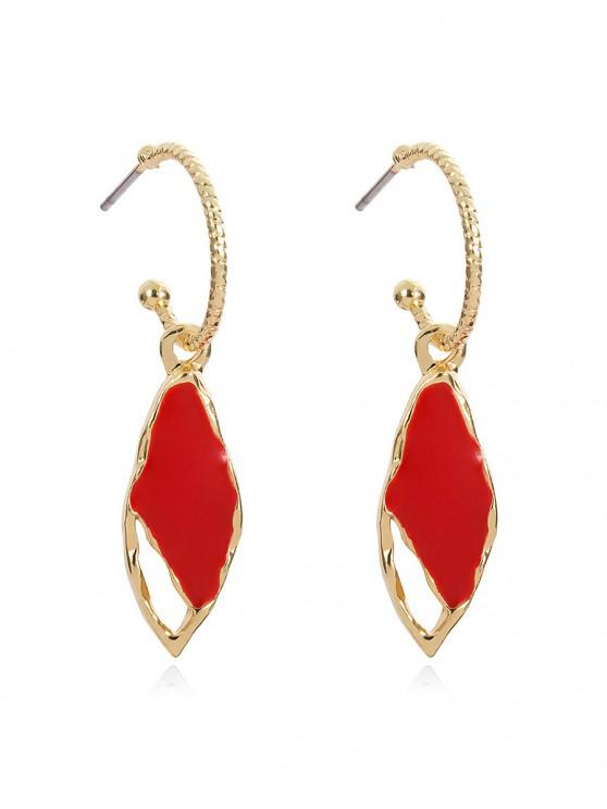 chic Chic Water Drop Decoration Drop Earrings - RED