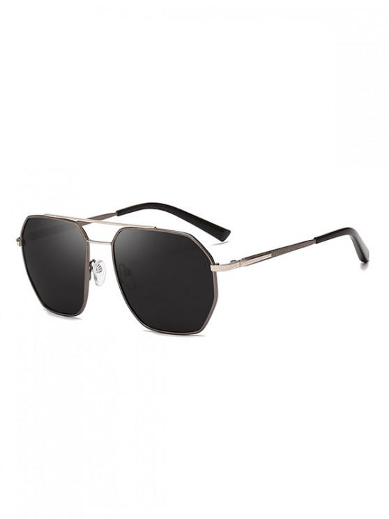 chic Driver Polarized Metal Frame Sunglasses - SILVER