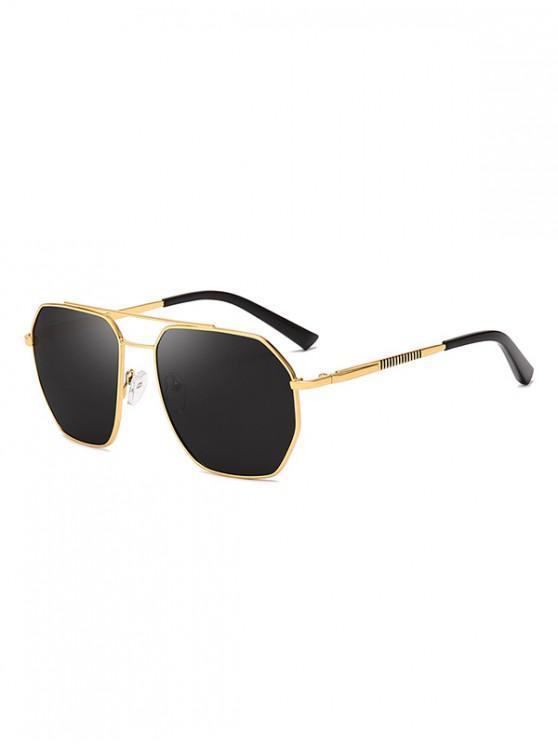 new Driver Polarized Metal Frame Sunglasses - DARK SLATE GREY