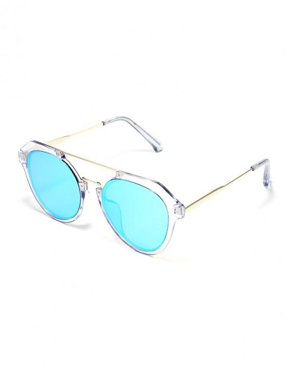 outfit Transparent Frame Oversized Polarized Sunglasses - LIGHT AQUAMARINE