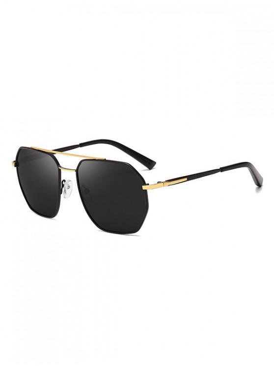 shop Driver Polarized Metal Frame Sunglasses - BLACK