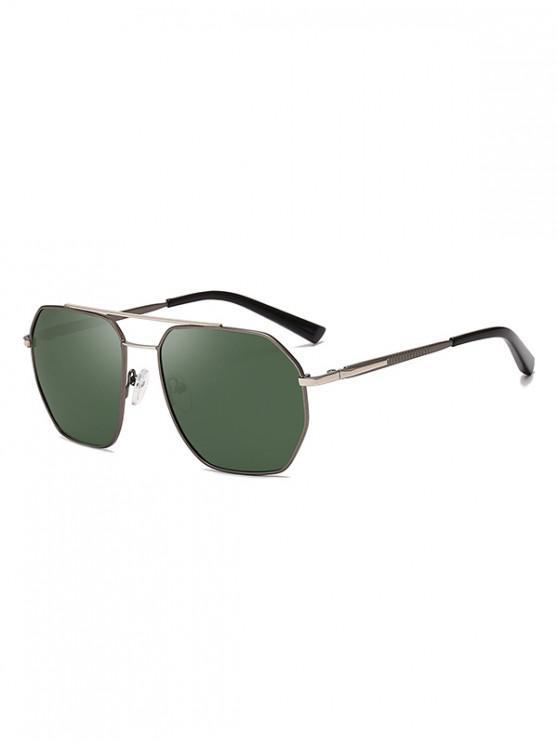 trendy Driver Polarized Metal Frame Sunglasses - DARK GREEN