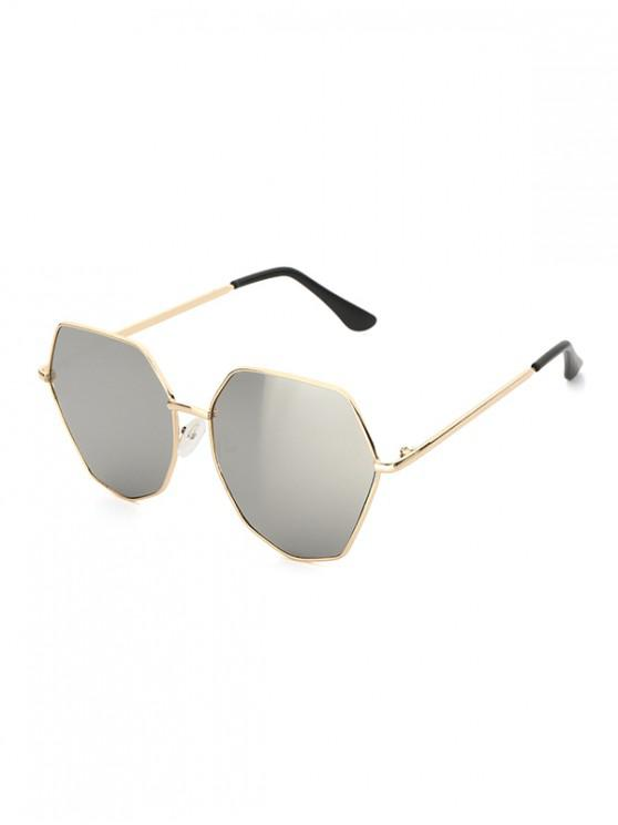 fashion Irregular Shape Frame Polarized Sunglasses - PLATINUM