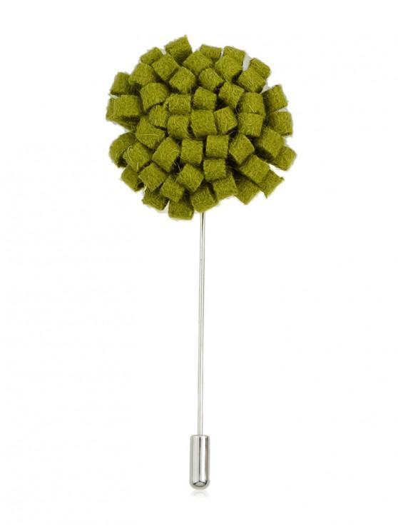 latest Flower Fleece Long Brooch Pin - YELLOW GREEN