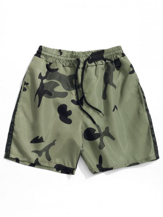 best Camouflage Print Casual Drawstring Shorts - ARMY GREEN S