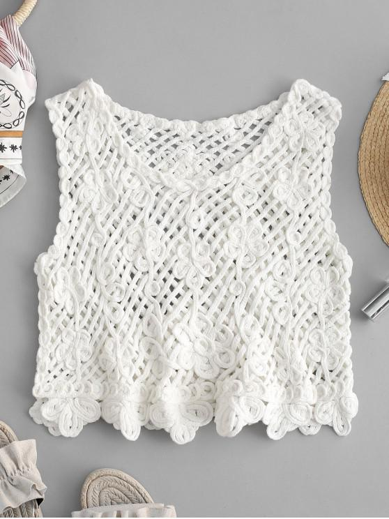 15% OFF] 2020 Crochet Tank Top In WHITE