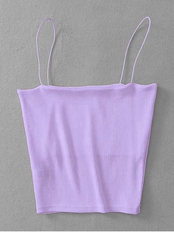 shops Ribbed Cropped Cami Top - MAUVE ONE SIZE
