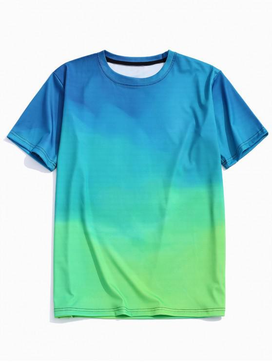 ladies Ombre Print T-shirt - MULTI M