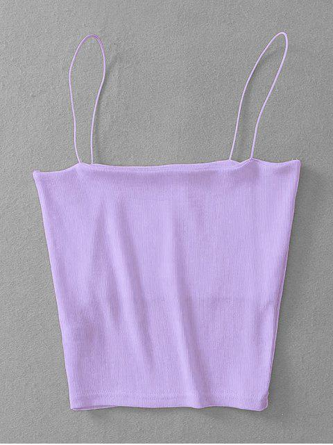 shops Ribbed Cropped Cami Top - MAUVE ONE SIZE Mobile