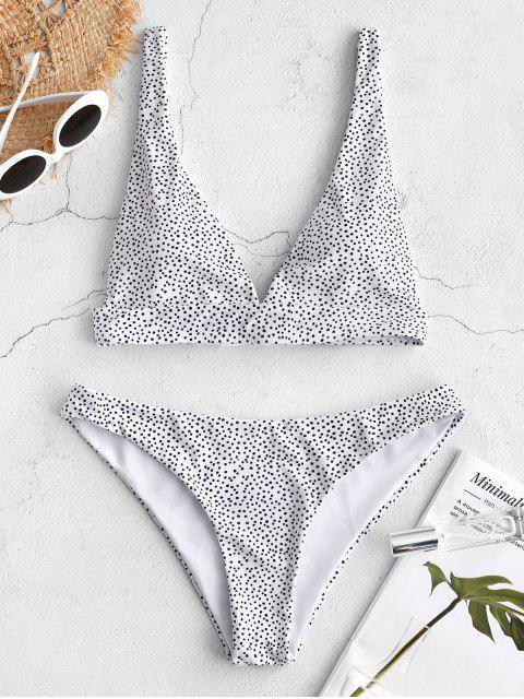 Bikini ZAFUL a Pois con Nodo Indietro - Bianca M Mobile