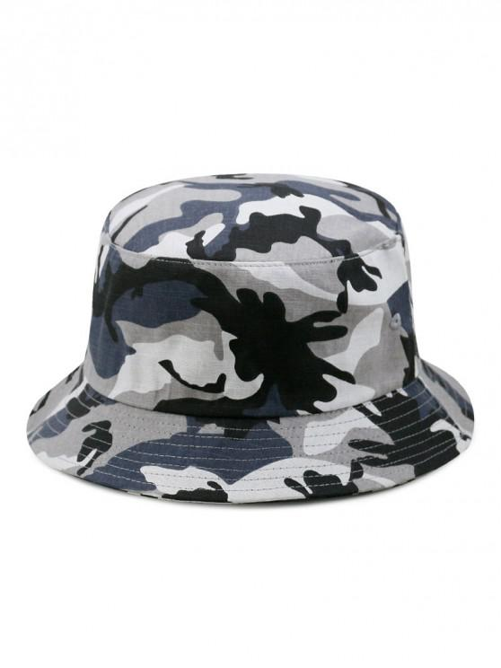 lady Cotton Camouflage Print Bucket Hat - GRAY