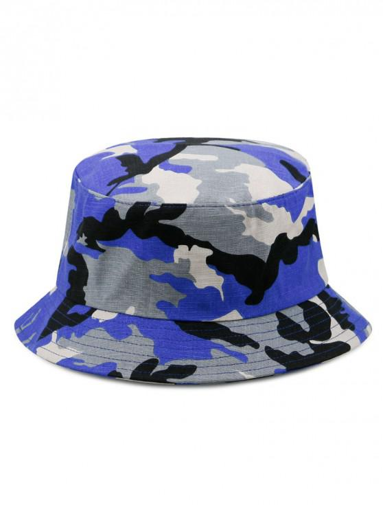 hot Cotton Camouflage Print Bucket Hat - BLUE