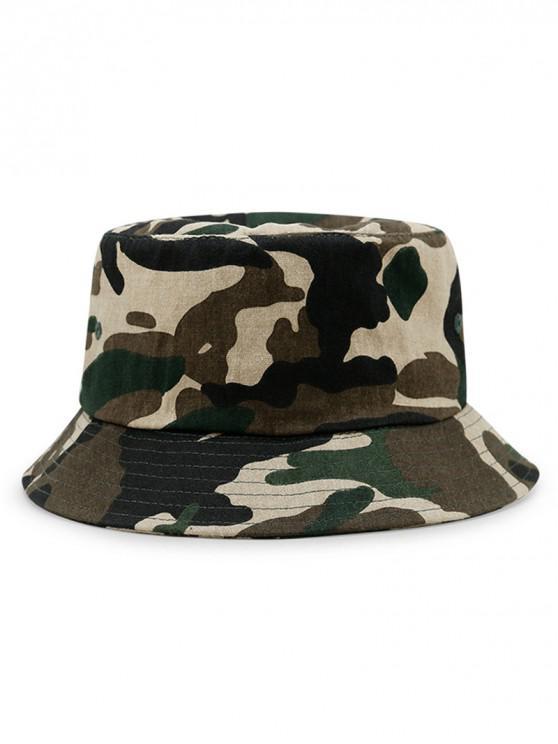 Sombrero de algodón con estampado de camuflaje - Ejercito Verde