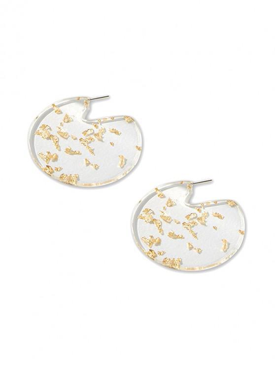 affordable Big Round Transparent Stud Earrings - TRANSPARENT