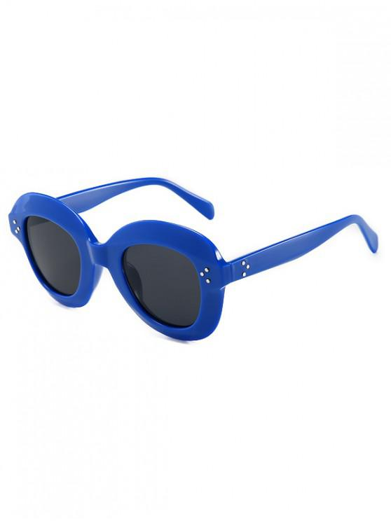 shop Outdoor Beach Wide Rim Sunglasses - BLUEBERRY BLUE REGULAR