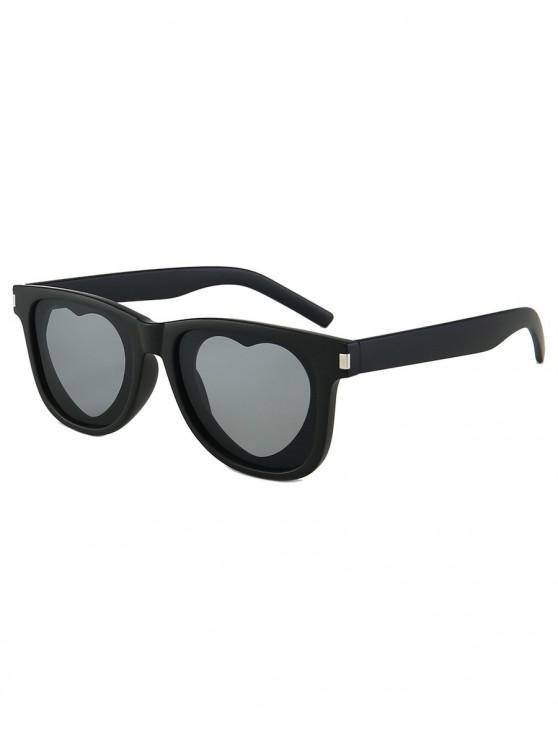 shops Outdoor Anti UV Heart Sunglasses - BLACK REGULAR