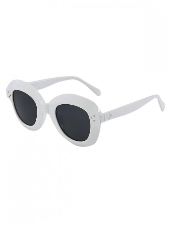 chic Outdoor Beach Wide Rim Sunglasses - WHITE REGULAR