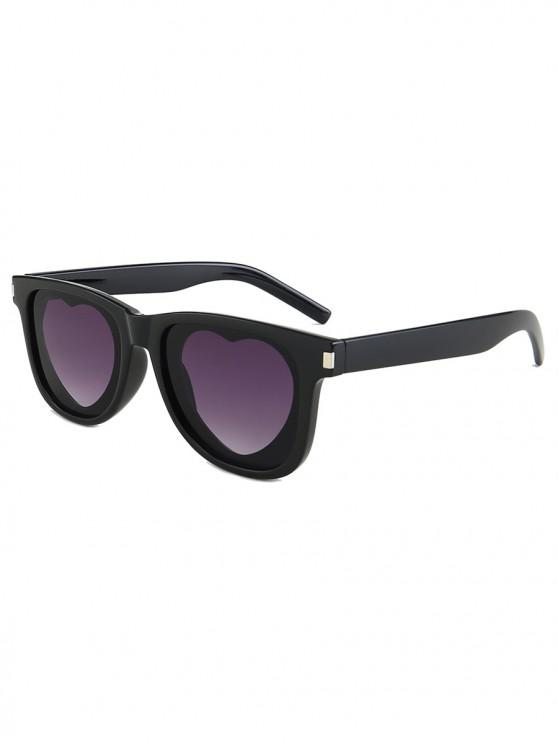fancy Outdoor Anti UV Heart Sunglasses - CARBON GRAY REGULAR