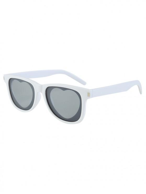 womens Outdoor Anti UV Heart Sunglasses - WHITE REGULAR
