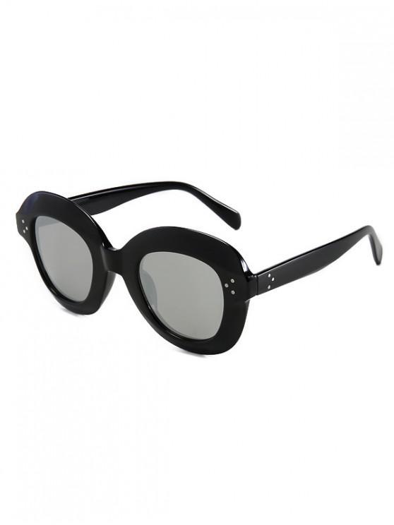 women Outdoor Beach Wide Rim Sunglasses - SILVER REGULAR