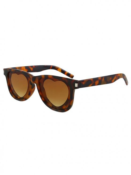 ladies Outdoor Anti UV Heart Sunglasses - LEOPARD REGULAR