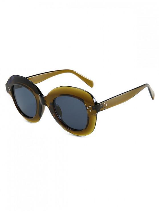 lady Outdoor Beach Wide Rim Sunglasses - ARMY GREEN REGULAR