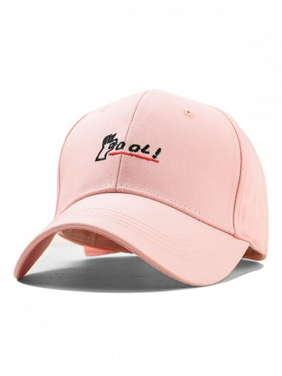 latest Embroidery Letter Cool Baseball Cap - PINK