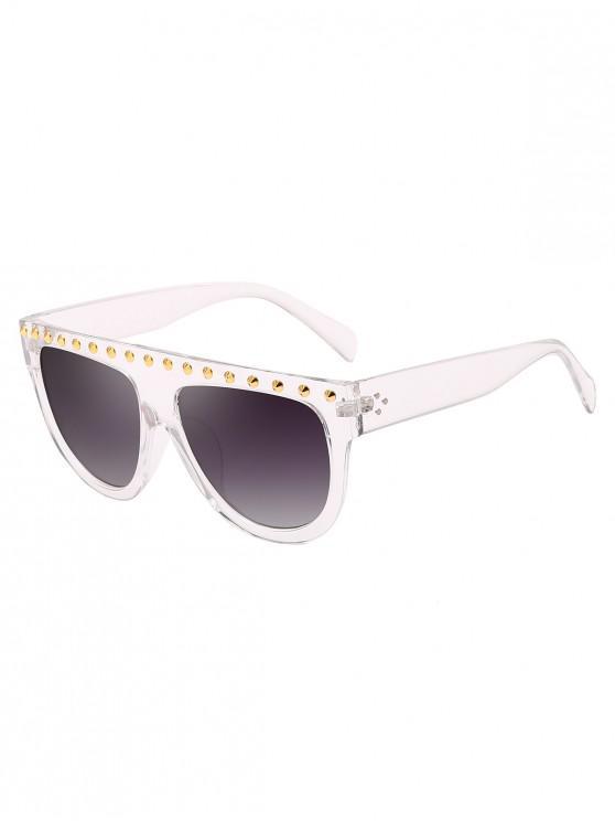 new Rivet Semicircle Anti UV Sunglasses - TRANSPARENT