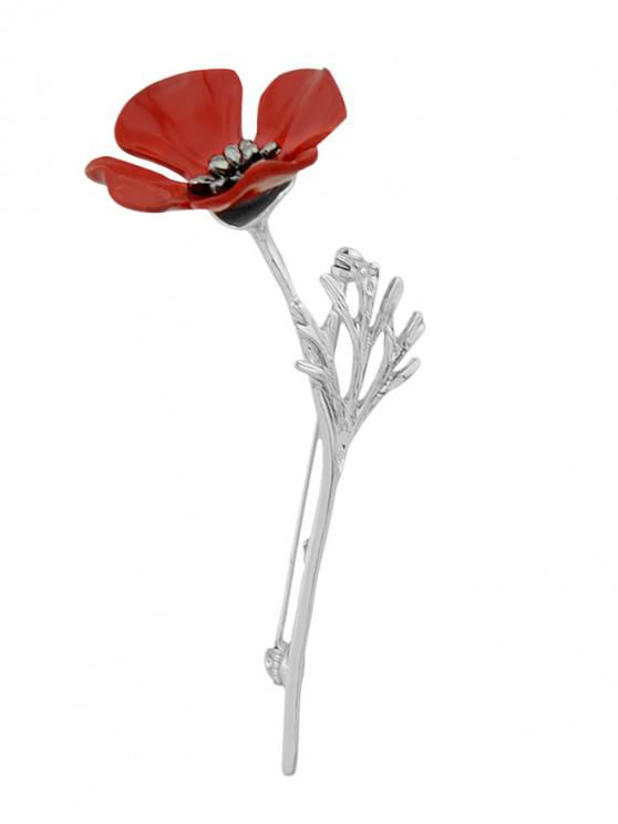 online Flower Decoration Alloy Brooch - SILVER