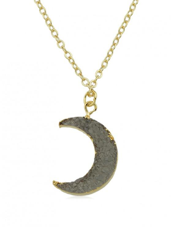 trendy Vintage Moon Chain Necklace - GOLD