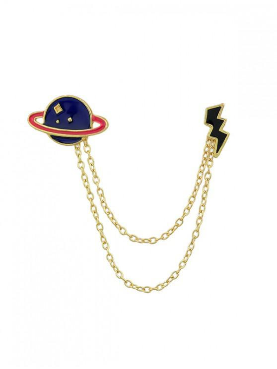 affordable Chic Planet Design Alloy Brooch - GOLD