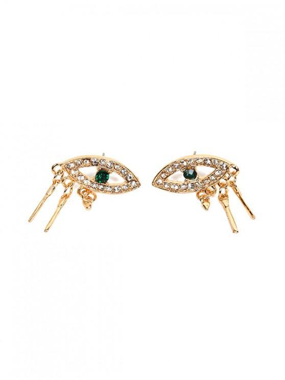 affordable Hollowed Diamante Eye Stud Earrings - GOLD